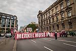 Protest Berlin germany  Merkel Muss Weg 9th Sept 2017 photo by Rhiannon Hopley