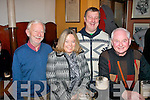 After dining in Cassidy's restaurant,Tralee,Debra Moore,Fenit and UK had a nice tipple in Jess McCarthy's bar,Tralee last Saturday night to celebrate her birthday,present were Dr Michéal Buggy,Debra&Richard Moore with Karl Walsh..