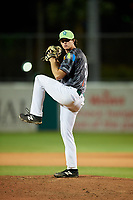 Daytona Tortugas starting pitcher Ryan Olson (20) delivers a pitch during a game against the Jupiter Hammerheads on April 13, 2018 at Jackie Robinson Ballpark in Daytona Beach, Florida.  Daytona defeated Jupiter 9-3.  (Mike Janes/Four Seam Images)