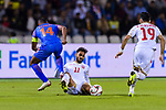 Ali Jaafar Madan of Bahrain (C) fights for the ball with Pronay Halder of India (L) during the AFC Asian Cup UAE 2019 Group A match between India (IND) and Bahrain (BHR) at Sharjah Stadium on 14 January 2019 in Sharjah, United Arab Emirates. Photo by Marcio Rodrigo Machado / Power Sport Images