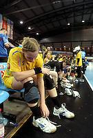 Handball Frauen / Damen  / women 1. Bundesliga - DHB - HC Leipzig : Frankfurter HC - im Bild: Anne Ulbricht . Foto: Norman Rembarz .