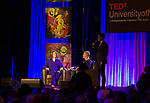 Catherine Cortez Masto, left, is introduced during the Ted X event on Saturday, Jan. 27, 2018 at the Reno-Sparks Convention Center in Reno.