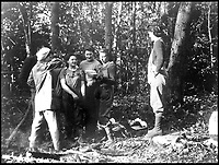 BNPS.co.uk (01202 558833)<br /> Pic:   HistoryPress/BNPS<br /> <br /> The Lumberjills wore a mixture of their own clothes and uniform.<br /> <br /> These inspiring photos tell the little known story of the patriotic women who chopped down trees to help us win the Second World War.<br /> <br /> When war was declared in September 1939 Britain was almost completely dependent on imported timber and only had seven months worth of it stockpiled.<br /> <br /> With men being sent to the front line in their droves, the Woman's Timber Corps was established to fell trees, operate sawmills and run forestry sites.<br /> <br /> About 15,000 women, some as young as 14, volunteered to carry out the arduous tasks previously done by men.