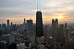 Skyline of Chicago, Illinois on November 23, 2008.
