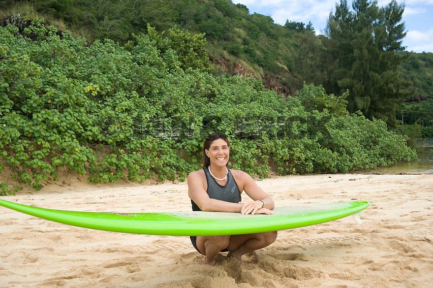 Silva Nabuco (BRZ) at Waimea Bay on the Northshore of Oahu in Hawaii.