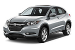 Front three quarter view of a 2016 Honda HRV EX