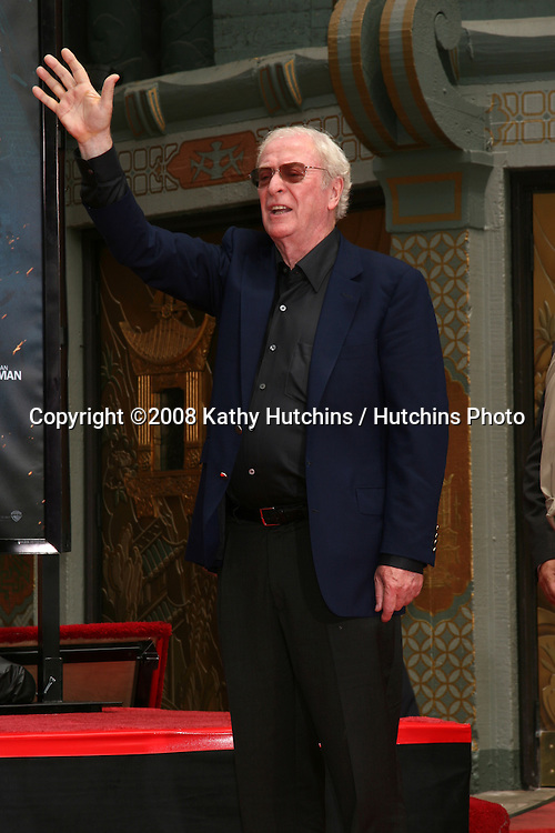 Michael Caine  at  Michael's Handprint and Footprint Ceremony   at Grauman's Chinese Theater in Hollywood, CA on.July 11, 2008.©2008 Kathy Hutchins / Hutchins Photo .
