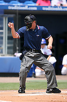 April 12, 2009:  Home plate umpire Max Guyll during a game at Tradition Field in St. Lucie, FL.  Photo by:  Mike Janes/Four Seam Images