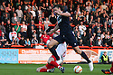Mark Roberts tackles Andy Carroll. Mitchell Cole Benefit Match - Lamex Stadium, Stevenage - 7th May, 2013. © Kevin Coleman 2013. ..