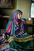 Shepherd crafts made by the Gujjar and Bakarwal women. Pahalgam, Kashmir, Northern India, India