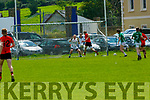 Darran O'Sullivan Glenbeigh/Glencar  powers his shot past  Milltown/Castlemaine Keeper Cormac Leane during their IFC clash in Killorglin on Sunday