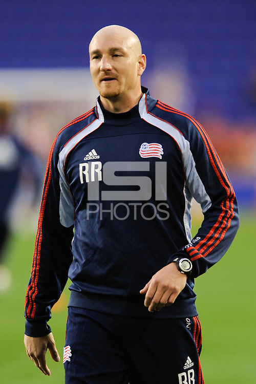 New England Revolution goalkeeper coach Remi Roy. The New York Red Bulls defeated the New England Revolution 3-0 during a U. S. Open Cup qualifier round match at Red Bull Arena in Harrison, NJ, on May 12, 2010.