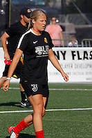 Rochester, NY - Saturday June 11, 2016: Western New York Flash forward Makenzy Doniak (3) during a regular season National Women's Soccer League (NWSL) match between the Western New York Flash and the Orlando Pride at Rochester Rhinos Stadium.