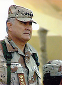 General H. Norman Schwarzkopf, Commander-in-Chief, United States Central Command (CENTCOM), McDill AFB, Florida.  Photo taken in Saudi Arabia during the U.S. military deployment for Operation Desert Shield, August 27, 1990..Mandatory Credit: Michael Hixon / US Army via CNP