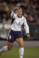 06 November,  2004. USWNT forward Abby Wambach (16) celebrates her goal  at  Lincoln Financial Field in Philadelphia, Pa.