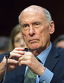 Director of National Intelligence (DNI) Dan Coats testifies before the United States Senate Committee on Intelligence during a hearing to examine worldwide threats on Capitol Hill in Washington, DC on Tuesday, February 13, 2018<br /> Credit: Ron Sachs / CNP