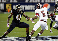 Florida International University football player linebacker Kenneth Dillard (41) plays against Troy University on October 26, 2011 at Miami, Florida. FIU won the game 23-20 in overtime. .