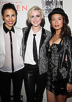 "BEVERLY HILLS, CA, USA - MAY 10: Chrysanthe Tan, Evan Rachel Wood, T.V. Carpio at the ""An Evening With Women"" 2014 Benefiting L.A. Gay & Lesbian Center held at the Beverly Hilton Hotel on May 10, 2014 in Beverly Hills, California, United States. (Photo by Celebrity Monitor)"
