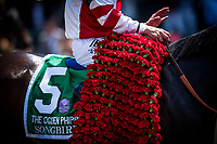 ELMONT, NY - JUNE 10: Songbird and Mike Smith win the Ogden Phipps Handicap at Belmont Stakes at Belmont Park on June 10, 2017 in Elmont, New York. (Photo by Alex Evers/Eclipse Sportswire/Getty Images)