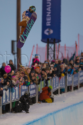26.02.2016. Wyller Oslo Winter Park, Oslo, Norway. Red Bull X Games. Ladies Snowboard SuperPipe Final  Chloe Kim of United States competes in the Ladies Snowboard SuperPipe Final  during the X Games Oslo 2016 at the Wyller Oslo winter park in Oslo, Norway.