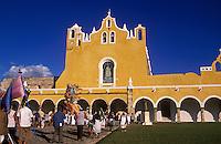 Procession. Convent of San Antonio de Padua. Yucatan Peninsula. Izamal, Mexico