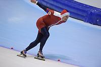 SCHAATSEN: HEERENVEEN: Thialf, 4th Masters International Speed Skating Sprint Games, 25-02-2012, Brynjulf Makestad (M60) 2nd, ©foto: Martin de Jong