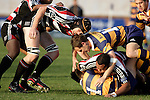 Andrew Van der Heijden arrives at a ruck to lend support to Sekope Kepu during the Air NZ Cup rugby game between Bay of Plenty & Counties Manukau played at Blue Chip Stadium, Mt Maunganui on 16th of September, 2006. Bay of Plenty won 38 - 11.