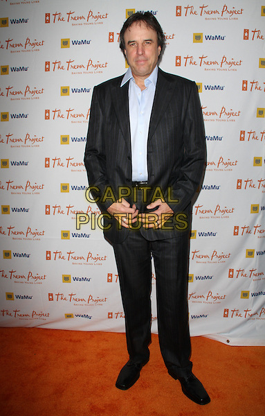 """KEVIN NEALON.11th Annual Trevor Project's """"Cracked XMas"""" Benefit at the Wiltern Theatre, Los Angeles, California, USA..December 7th, 2008.full length black suit blue pinstripe .CAP/ADM/KB.©Kevan Brooks/AdMedia/Capital Pictures."""