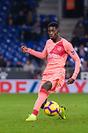 Ousmane Dembele of FC Barcelona runs with the ball during the La Liga 2018-19 match between RDC Espanyol and FC Barcelona at Camp Nou on 08 December 2018 in Barcelona, Spain. Photo by Vicens Gimenez / Power Sport Images