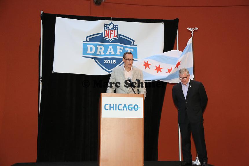 Chris Hibbs (VP Sales and Marketing Chicago Bears) - Draft Pressekonferenz, Sheraton Downtown Phoenix Hotel