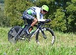 Team Dimension Data in action during Stage 16 of the La Vuelta 2018, an individual time trial running 32km from Santillana del Mar to Torrelavega, Spain. 11th September 2018.                    <br /> Picture: Karlis Medrano | Cyclefile<br /> <br /> <br /> All photos usage must carry mandatory copyright credit (&copy; Cyclefile | Karlis Medrano)