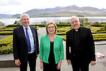 Pictured at the JMB / ACMSS conference in the Europe Hotel, Killarney on Thursday were from left, Ferdia Kelly, General Secretary, Minister for Education Jan O'Sullivan and Fr Paul Connell, President.<br /> Picture by Don MacMonagle