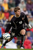 MetroStars' goalkeeper Zach Wells. The MetroStars defeated the Chicago Fire 2-0 during an exhibition game on Monday October 11, 2004 at At-A-Glance Field at the National Soccer Hall of Fame and Museum, Oneonta, NY..