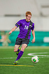 19 October 2013: University at Albany Great Danes Midfielder Anthony Rozzano, a Sophomore from Webster, NY, in action against the University of Vermont Catamounts at Virtue Field in Burlington, Vermont. The Catamounts defeated the visiting Danes 2-1. Mandatory Credit: Ed Wolfstein Photo *** RAW (NEF) Image File Available ***