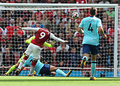 9th September 2017, Emirates Stadium, London, England; EPL Premier League Football, Arsenal versus Bournemouth; Alexandre Lacazette of Arsenal scores his sides 2nd goal in the 28th minute to make it 2-0