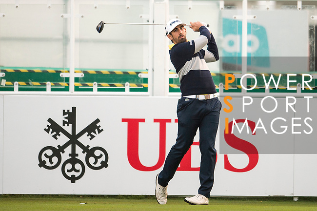 Matthieu Pavon of France tees off the first hole during the 58th UBS Hong Kong Open as part of the European Tour on 08 December 2016, at the Hong Kong Golf Club, Fanling, Hong Kong, China. Photo by Marcio Rodrigo Machado / Power Sport Images