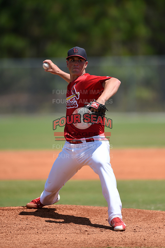 St. Louis Cardinals pitcher Mike Mayers (48) during a minor league spring training game against the Miami Marlins on March 31, 2015 at the Roger Dean Complex in Jupiter, Florida.  (Mike Janes/Four Seam Images)