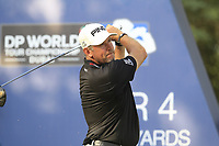 Lee Westwood (ENG) on the 16th tee during the final round of the DP World Tour Championship, Jumeirah Golf Estates, Dubai, United Arab Emirates. 18/11/2018<br /> Picture: Golffile | Fran Caffrey<br /> <br /> <br /> All photo usage must carry mandatory copyright credit (© Golffile | Fran Caffrey)