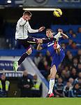 Chelsea's Nemanja Matic tussless with Everton's James McCarthy<br /> <br /> Barclays Premier League- Chelsea vs Everton  - Stamford Bridge - England - 11th February 2015 - Picture David Klein/Sportimage
