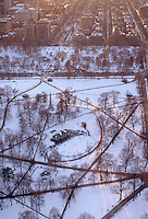 Boston common winter aerial skating, Boston, MA