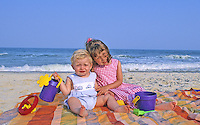 Children at the beach, Stone Harbor, New Jersey