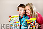 Lisa Curran with her son Christopher who has a comic strip story based on him in the Beano.