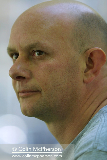 Author Nick Hornby pictured at the Edinburgh International Book Festival where he gave a talk about his work..