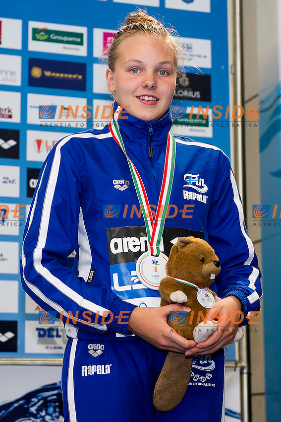 Heinola Nea-Amanda FIN<br /> 50 Freestyle Women Final Bronze Medal<br /> LEN 43rd Arena European Junior Swimming Championships<br /> Hodmezovasarhely, Hungary <br /> Day04 09-07-2016<br /> Photo Andrea Masini/Deepbluemedia/Insidefoto