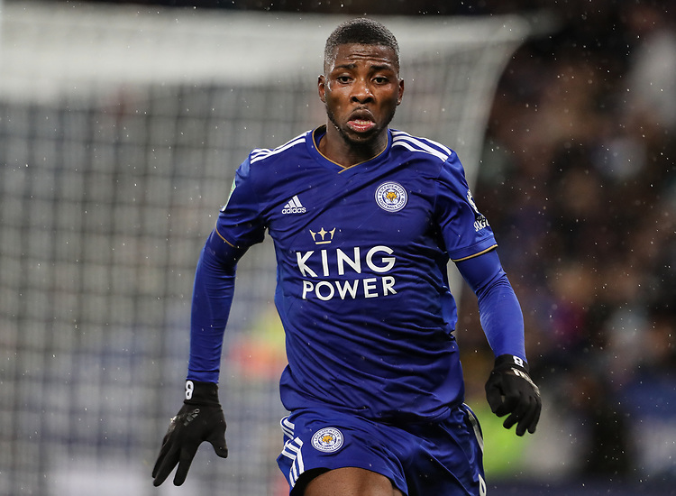 Leicester City's Kelechi Iheanacho<br /> <br /> Photographer Andrew Kearns/CameraSport<br /> <br /> English League Cup - Carabao Cup Quarter Final - Leicester City v Manchester City - Tuesday 18th December 2018 - King Power Stadium - Leicester<br />  <br /> World Copyright © 2018 CameraSport. All rights reserved. 43 Linden Ave. Countesthorpe. Leicester. England. LE8 5PG - Tel: +44 (0) 116 277 4147 - admin@camerasport.com - www.camerasport.com