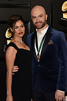 LOS ANGELES - JAN 26:  Daniella Maximillian, John Brancy at the 62nd Grammy Awards at the Staples Center on January 26, 2020 in Los Angeles, CA