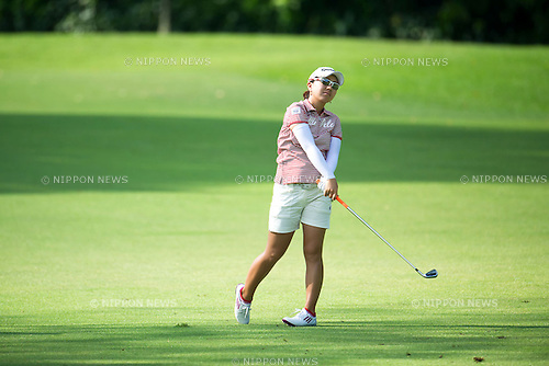 Mika Miyazato (JPN), MARCH 2, 2013 - Golf : Mika Miyazato of Japan looks dejected after a shot during the third round of the the HSBC Women's Champions golf tournament at Sentosa Golf Club in Singapore. (Photo by Haruhiko Otsuka/AFLO)