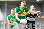 Brendan O'Sullivan of Kerry shakes off Ben McGarry of Sligo in the GAA Football All-Ireland Junior Championship Semi Final last Saturday in Cusack Park, Ennis.