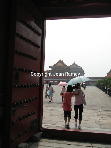 Doorway to history. Forbidden Palace, Beijing, China
