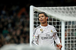 Real Madrid´s Cristiano Ronaldo celebrates a goal (2-0) during La Liga match at Santiago Bernabeu stadium in Madrid, Spain. March 15, 2015. (ALTERPHOTOS/Victor Blanco)
